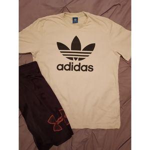 NWOT~ Adidas White Logo Shirt, XLarge